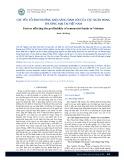 Các yếu tố ảnh hưởng khả năng sinh lời của các ngân hàng thương mại tại Việt Nam