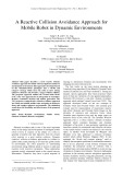 A reactive collision avoidance approach for mobile robot in dynamic environments