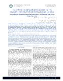 Các nhân tố tác động đến động lực học tập của sinh viên – ví dụ thực tiễn tại trường Đại học Lạc Hồng