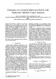 Dynamics of a general multi axis robot with analytical optimal torque analysis