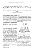 Extending the stable input range of a single bit sigma-delta modulator with a saturation element