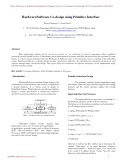Hardware software co design using primitive interface