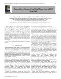 Toward the influenza virus data mining from a DNA data bank