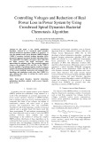 Controlling voltages and reduction of real power loss in power system by using crossbreed spiral dynamics bacterial chemotaxis algorithm
