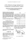 A new method to design optimal power compensator in hybrid electric vehicles