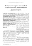 Design and development of human skill transfer system with augmented reality