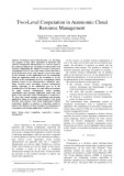 Two level cooperation in autonomic cloud resource management