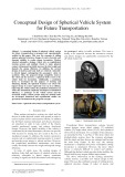Conceptual design of spherical vehicle system for future transportation