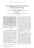 Decreasing induction motor loss using reinforcement learning