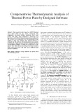 Componentwise thermodynamic analysis of thermal power plant by designed software