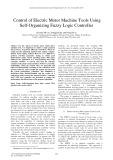 Control of electric motor machine tools using self organizing fuzzy logic controller