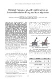 Optimal tuning of a LQR controller for an inverted pendulum using the bees algorithm