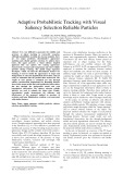 Adaptive probabilistic tracking with visual saliency selection reliable particles