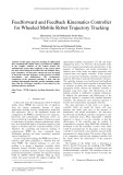 Feedforward and feedback kinematics controller for wheeled mobile robot trajectory tracking
