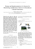 Design and implementation of a system for monitoring and remote control of a greenhouse climate parameters
