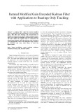 Iterated modified gain extended kalman filter with applications to bearings only tracking