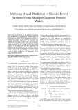 Multistep ahead prediction of electric power systems using multiple gaussian process models