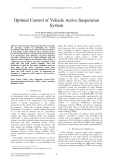 Optimal control of vehicle active suspension system