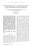 Environmental control of a greenhouse system using ni embedded systems technology