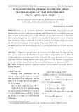Sử dụng phương pháp phổ để giải phương trình Boltzmann cho các chất khí có độ nhớt trong không gian 3 chiều