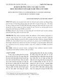 Áp dụng đường cong vật liệu FA-STM phân tích phi tuyến khung bê tông cốt thép