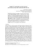 Nghiên cứu tổng hợp vật liệu TiO2/CNTs bằng phương pháp thủy phân kết hợp siêu âm