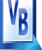 Giáo trình Lập trình căn bản Visual Basic: Phần 1