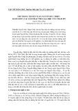 Thơ trong truyện ngắn Nguyễn Huy Thiệp - Ranh giới và sự xâm nhập thể loại, hiệu ứng thẩm mỹ
