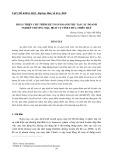 Hoàn thiện chu trình kế toán doanh thu tại các doanh nghiệp thương mại, dịch vụ tỉnh Thừa Thiên Huế