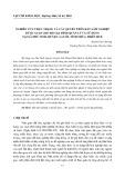 Nghiên cứu thực trạng và các quyền trên đất lâm nghiệp được giao cho hộ gia đình quản lý và sử dụng tại xã Phú Vinh, huyện A Lưới, tỉnh Thừa Thiên Huế