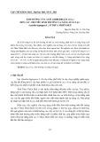 Ảnh hưởng của axít gibberellic (GA3) đến các chỉ tiêu sinh trưởng và năng suất lạc (Arachis hypogaea L.) ở Thừa Thiên Huế