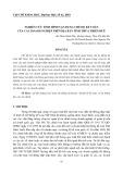 Nghiên cứu tình hình vận dụng chế độ kế toán của các doanh nghiệp trên địa bàn tỉnh Thừa Thiên Huế