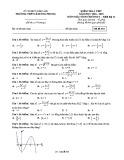 Đề kiểm tra Giải tích lớp 12 chương 1 năm 2018-2019 - THPT Lê Hồng Phong - Mã đề 444