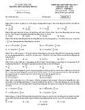Đề kiểm tra 1 tiết HK1 môn Vật lí lớp 12 năm 2018-2019 - THPT Lê Hồng Phong - Mã đề 129