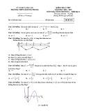 Đề kiểm tra Giải tích lớp 12 chương 1 năm 2018-2019 - THPT Lê Hồng Phong - Mã đề 450