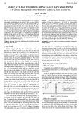 Nghiên cứu đặc tính phóng điện của dầu bắp và dầu phộng