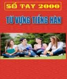 Sổ tay 2000 từ vựng tiếng Hàn