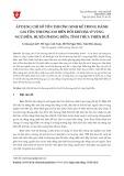 Áp dụng chỉ số tổn thương sinh kế trong đánh giá tổn thương do biến đổi khí hậu ở vùng Ngũ Điền, huyện Phong Điền, tỉnh Thừa Thiên Huế
