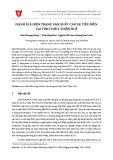 Đánh giá hiện trạng sản xuất cao su tiểu điền tại tỉnh Thừa Thiên Huế