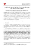 Nghiên cứu một số thông số công nghệ trong sản xuất bột chùm ngây