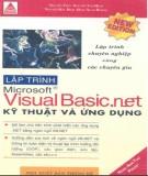 Kỹ thuật và ứng dụng trong lập trình Visual Basic .NET: Phần 3