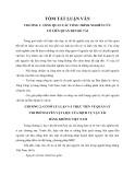Tóm tắt Luận văn Thạc sĩ Quản trị kinh doanh: Quản lý chi phí nguyên vật liệu tại Ban quản lý vật tư Tổng công ty Hàng Không Việt Nam