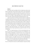 Tóm tắt Luận văn Thạc sĩ Kế toán: Hoàn thiện quản trị quan hệ khách hàng tại Ngân hàng Đầu tư và Phát triển Việt Nam - Chi nhánh Hà Tây