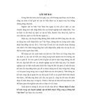 Tóm tắt Luận văn Thạc sĩ Kế toán: Hoàn thiện tổ chức kế toán trong các doanh nghiệp vận tải biển thuộc Tổng công ty Hàng hải Việt Nam