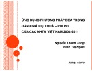 Ứng dụng phương pháp dea trong đánh giá hiệu quả – rủi ro của các NHTM Việt Nam 2008-2011