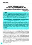 Lựa chọn và ứng dụng các bài tập phát triển thể lực chung cho nữ sinh viên khoa tiểu học và mầm non trường Đại học Phú Yên