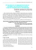 Kết quả phân lập, xác định serotype và độc lực các chủng E. Coli gây tiêu chảy ở lợn con tại khu vực thành phố Cẩm Phả, tỉnh Quảng Ninh