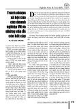 Trách nhiệm xã hội của các doanh nghiệp Việt Nam và những vấn đề còn bất cập