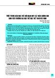 Thực trạng giáo dục thế giới quan duy vật biện chứng cho sinh viên trường Đại học Thể dục Thể thao Bắc Ninh