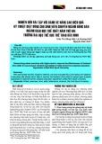 Nghiên cứu bài tập với bánh xe nâng cao hiệu quả kỹ thuật giật bóng cho sinh viên chuyên ngành Bóng bàn ngành Giáo dục thể chất năm thứ hai trường Đại học Thể dục Thể thao Bắc Ninh